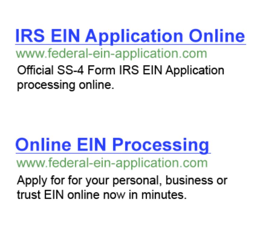 Federal Tax Id Ein Onlineein Online